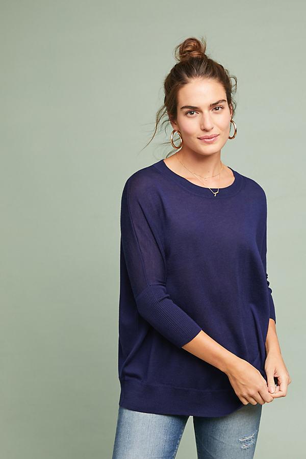 Wilhelmina Wool Tunic - Blue, Size Xs
