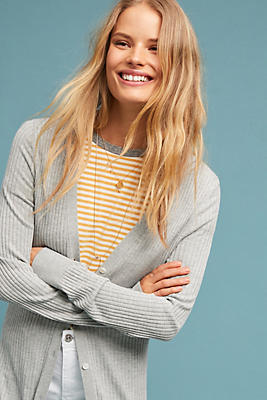 Slide View: 1: Cali Ribbed Cardigan