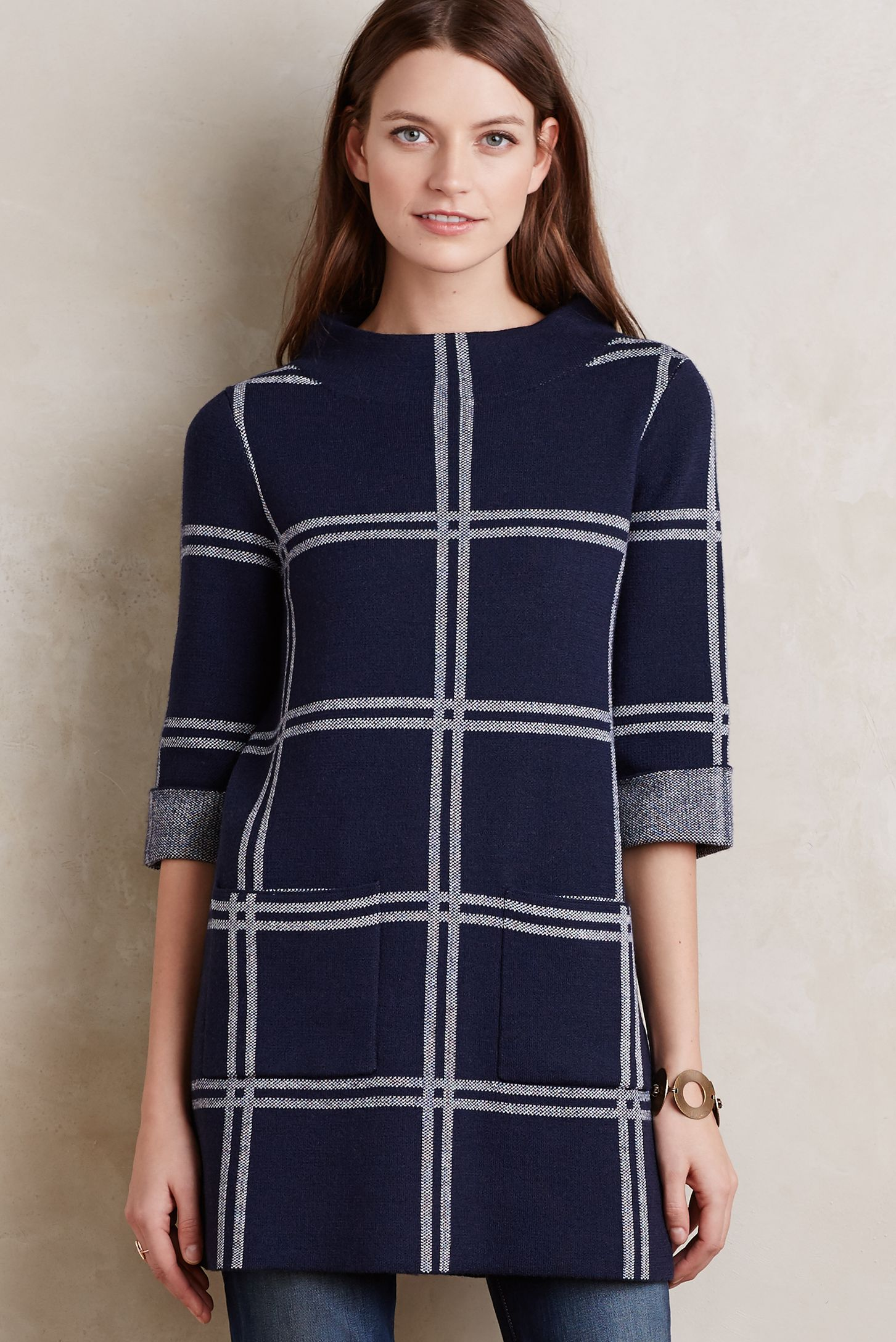 Paned Sweater Tunic | Anthropologie