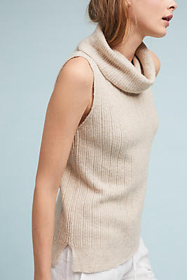 Slide View: 2: Sleeveless Turtleneck Sweater