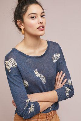 Rails   Rails Linen Pineapple Pullover  -    BLUE