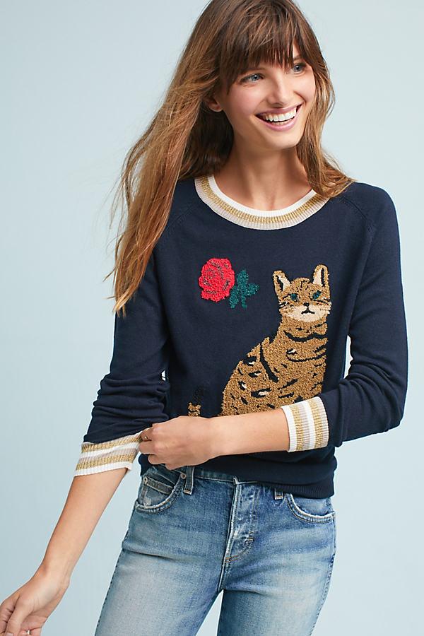 Talitha Kitty Jumper, Navy - Navy, Size Xs