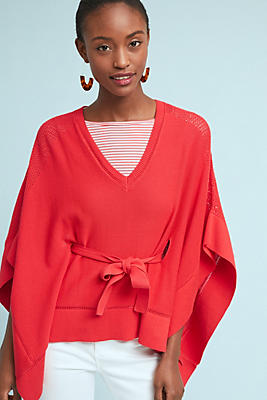 Slide View: 1: Frisco Belted Poncho Pullover