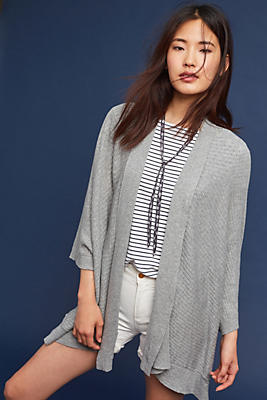 Slide View: 1: Fringed Cardigan