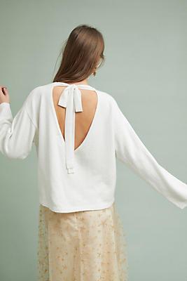 Slide View: 1: Clara Tie-Back Sweater
