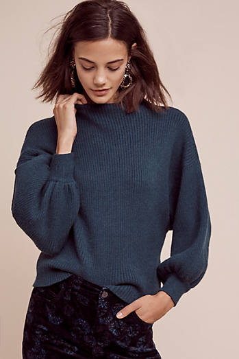 Balloon-Sleeve Pullover