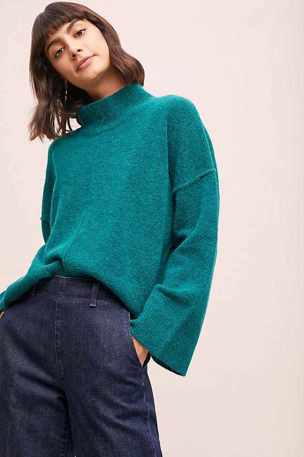 Niki Turtleneck Jumper - Green, Size Xl