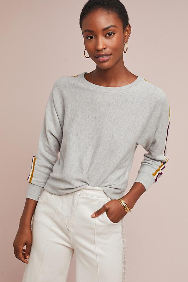 Petra Cashmere Sweatshirt - Grey, Size L