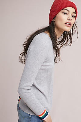 Slide View: 1: Varsity Cashmere Pullover