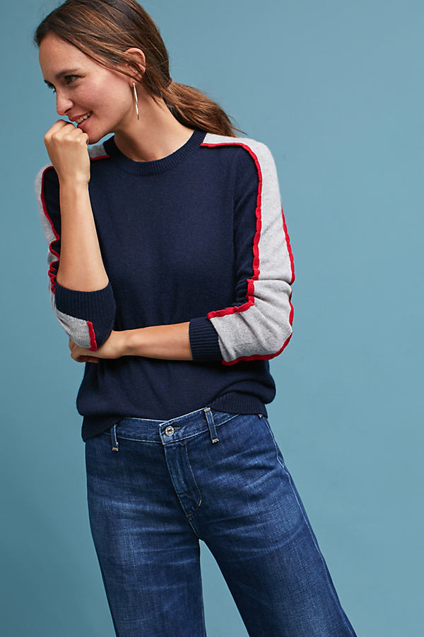Lizzie Cashmere Sweater - Navy, Size S