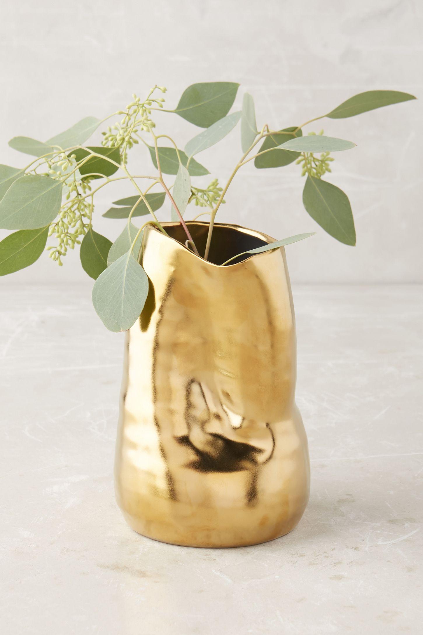 Gold - Unique & Modern Decorative Vases | Anthropologie