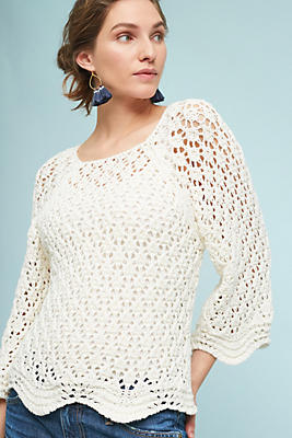 Slide View: 1: Bella Crocheted Sweater