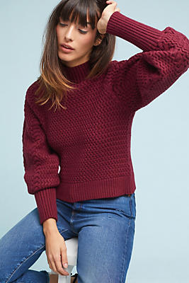 Slide View: 1: Aria Textured Pullover