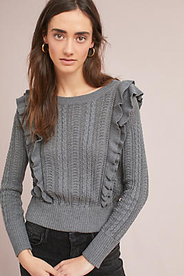 Slide View: 1: Susan Ruffled Pullover