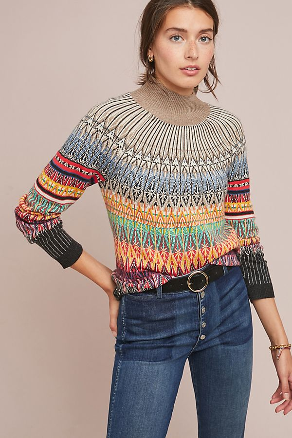 Prismatic Fair Isle Sweater | Anthropologie