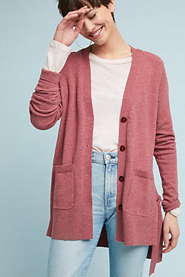 Slide View: 1: Lace-Up Cardigan