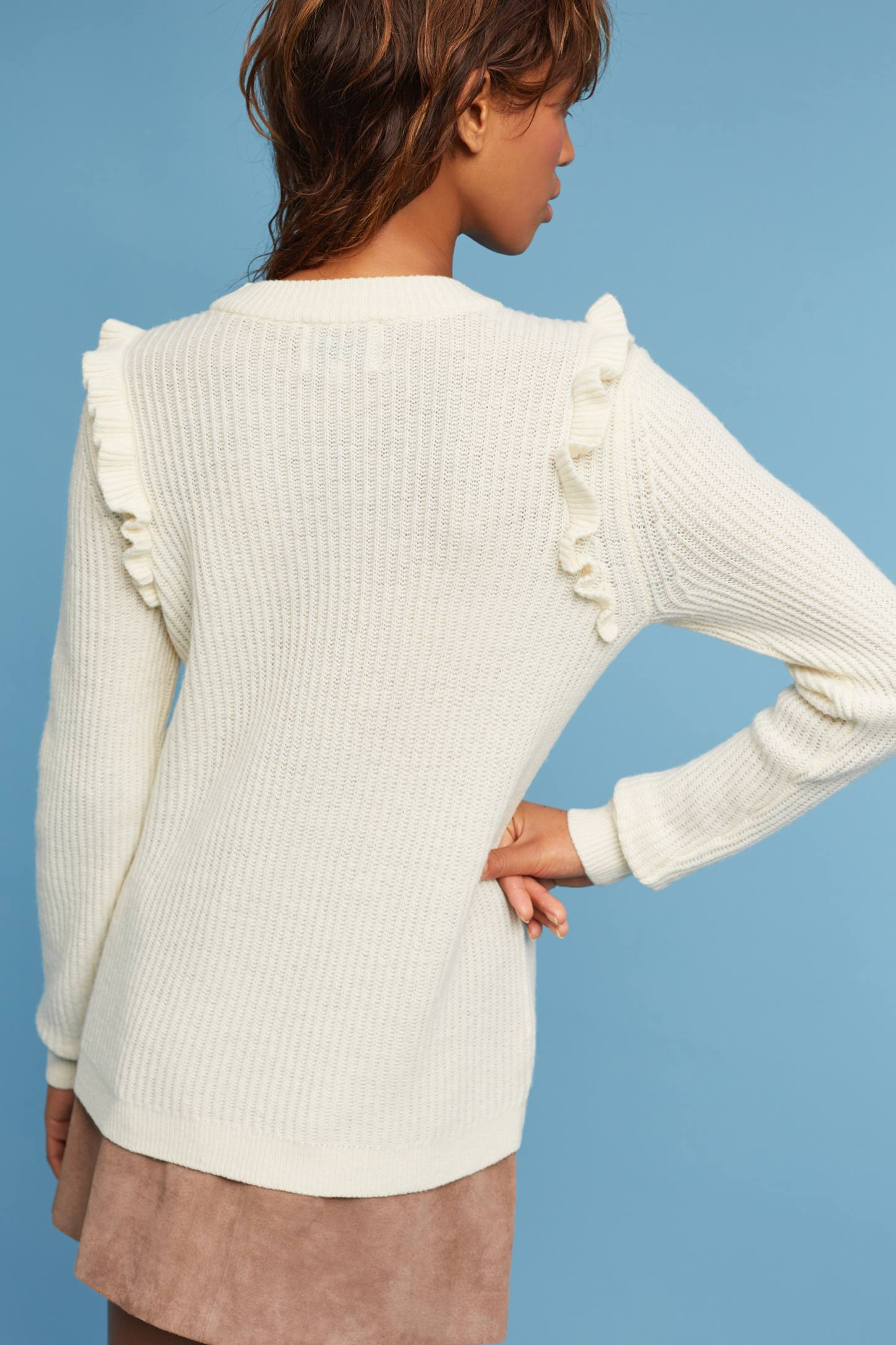 Slide View: 2: Tamara Ruffled Pullover