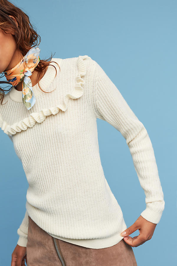 Slide View: 3: Tamara Ruffled Pullover