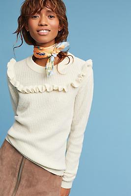 Slide View: 1: Tamara Ruffled Pullover