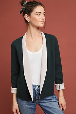 Slide View: 1: Two-Toned Knit Jacket