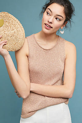 Slide View: 1: Sparkly Knit Tank