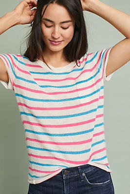 Slide View: 1: Cashmere Striped Tee