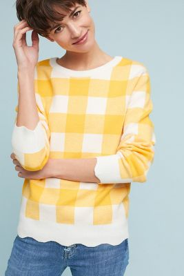 Moth   Classic Check Pullover  -    YELLOW