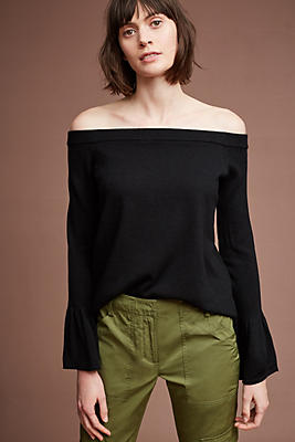 Slide View: 1: Mattea Off-The-Shoulder Pullover
