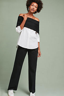 Slide View: 1: Layered Off-The-Shoulder Pullover