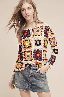 Slide View: 1: Retrospect Crocheted Pullover