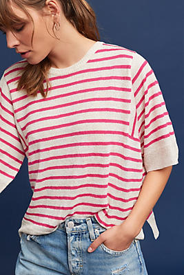 Slide View: 1: Demille Striped Pullover
