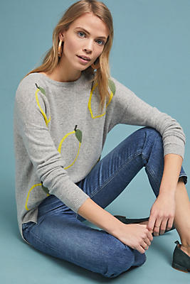 Slide View: 1: Lemon Cashmere Sweater