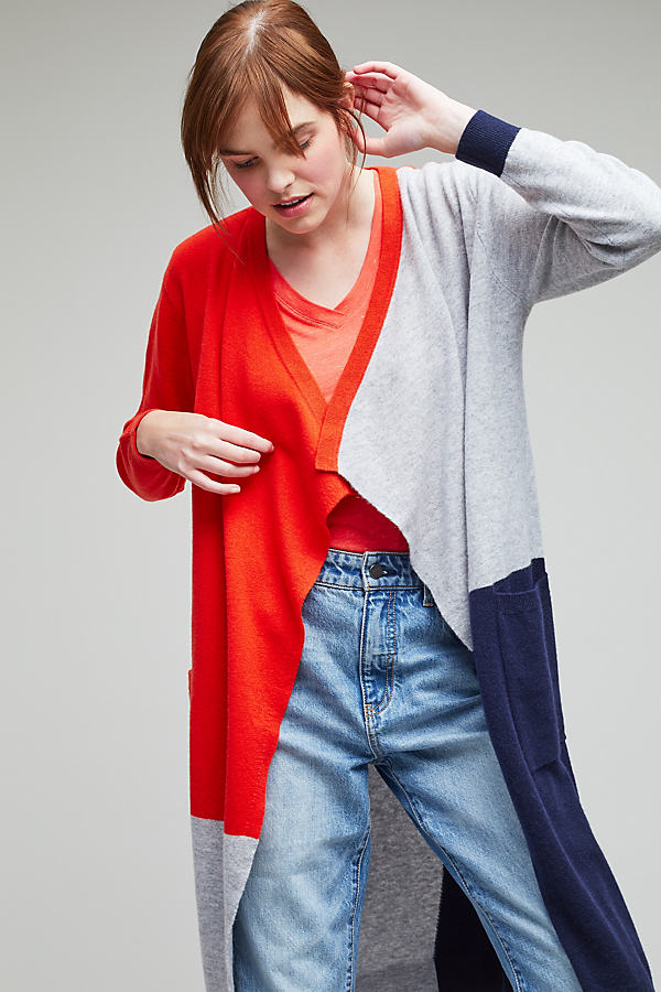 Lucca Colour-Blocked Cardigan - A/s, Size M