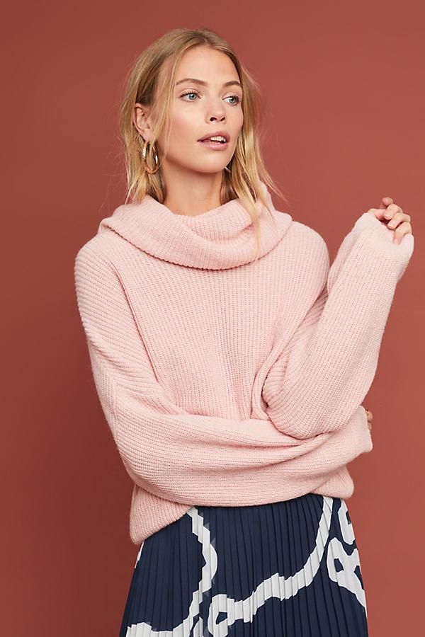 Selected Femme Foline Turtleneck Jumper - Pink, Size M