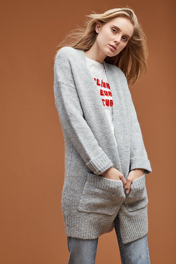 Selected Femme Jordan Cardigan - Grey, Size L