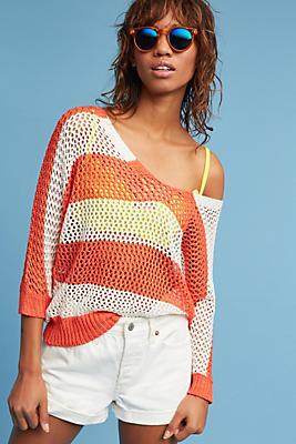Slide View: 1: Boardwalk Open-Stitched Pullover