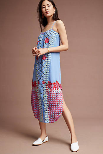 Palisades Embroidered Midi Dress