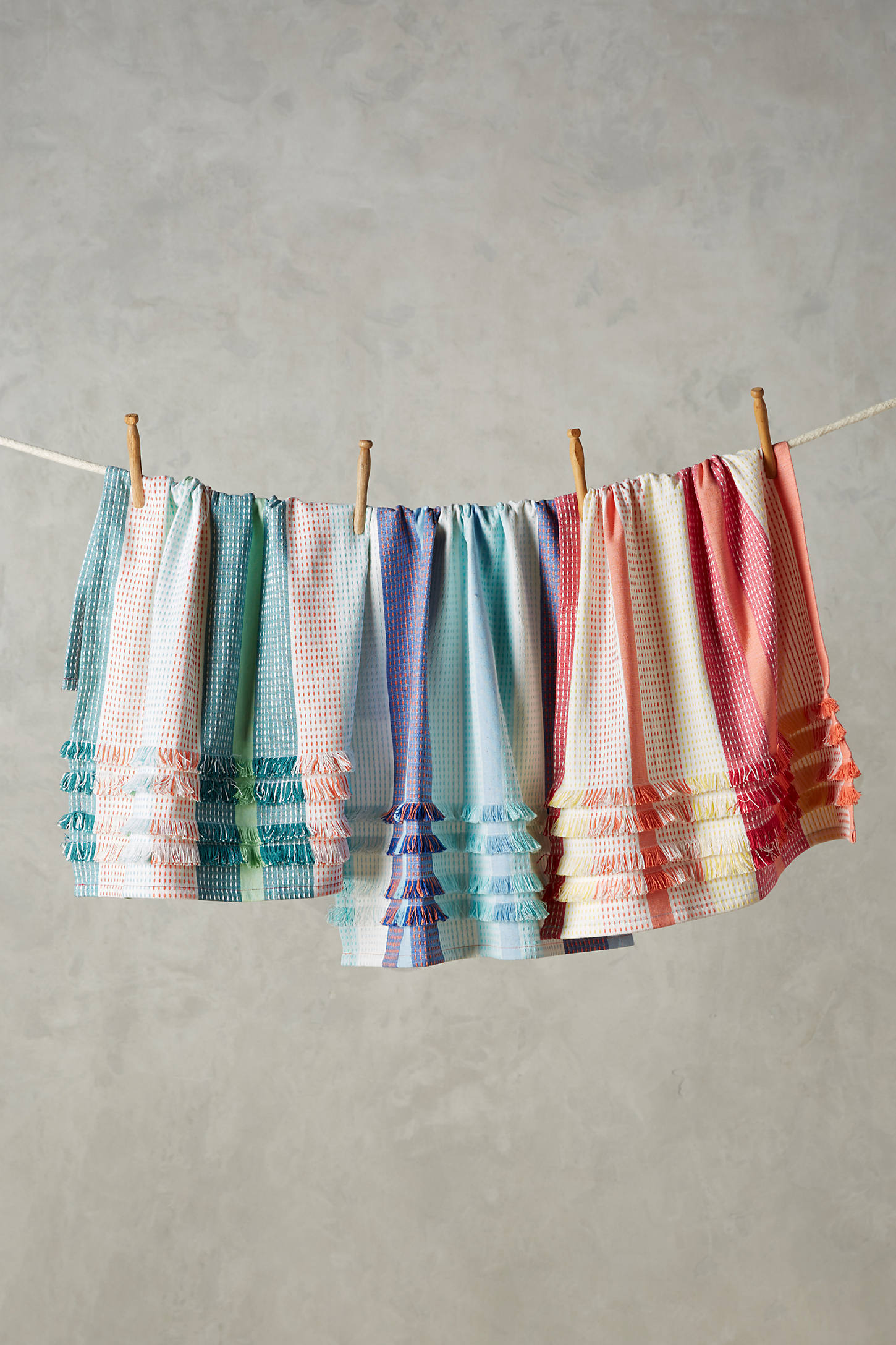Fringed Dish Towel Set