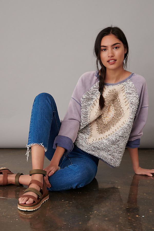 Pilcro Anabel Patterned Sweatshirt