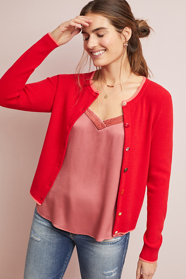 Valentine Cardigan - Red, Size Xl