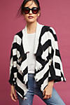 Thumbnail View 1: Fringed & Striped Cardigan