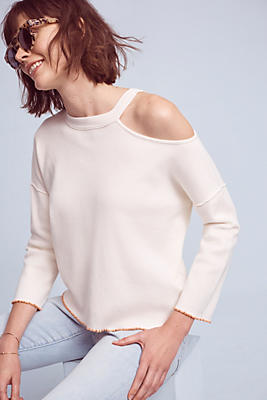 Slide View: 1: Eleywyn Open-Shoulder Pullover