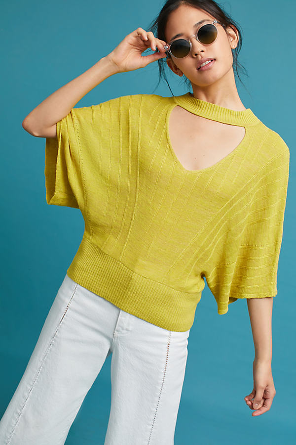 Esti Knit Top, Lime - Lime, Size S