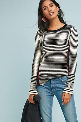Slide View: 1: Milford Striped Pullover