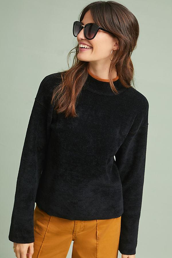 Cheyenne Chenille Top - Black, Size Xs