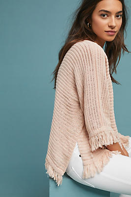 Slide View: 1: Frenchie Fringed Poncho
