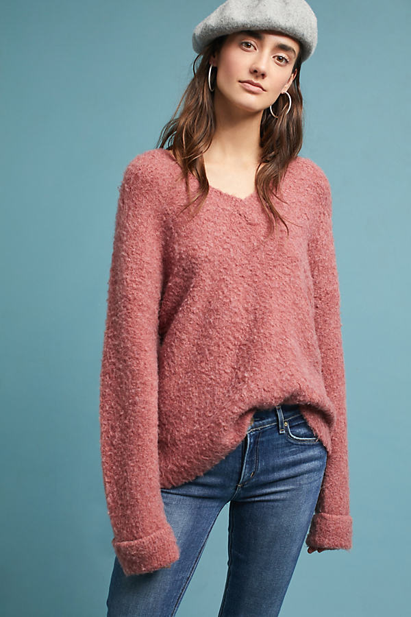 Bequemer Oversized-Pullover - Medium Pink