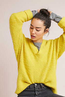 Slide View: 1: Oversized Cozy Pullover