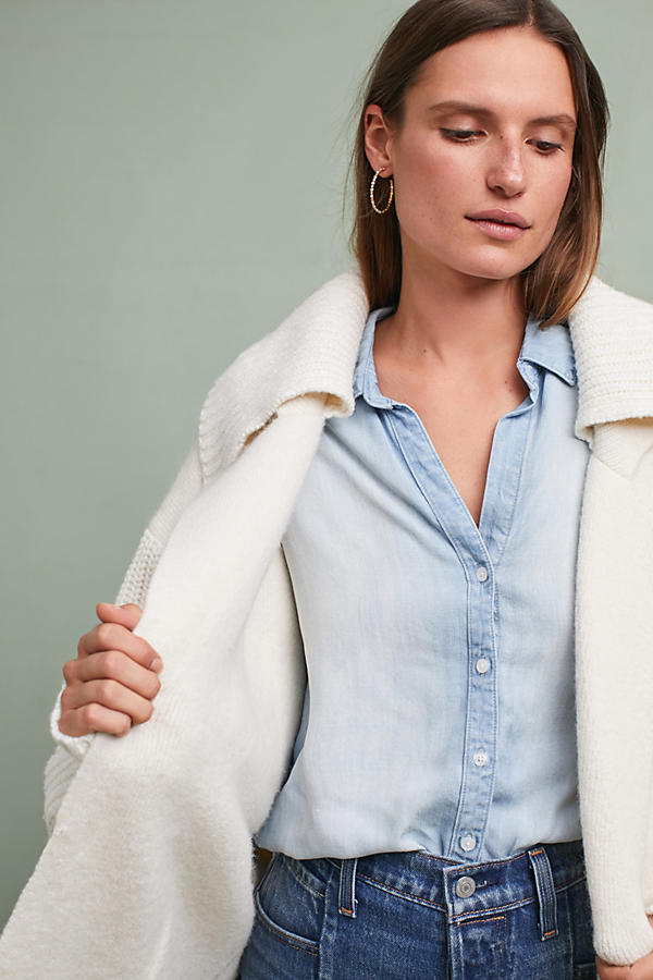 Slide View: 4: Elspeth Collared Cardigan, Ivory