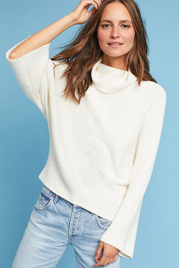 Tisbury Bell-Sleeved Jumper, Ivory - Ivory, Size Xs